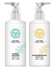 GVB hand soap and lotion