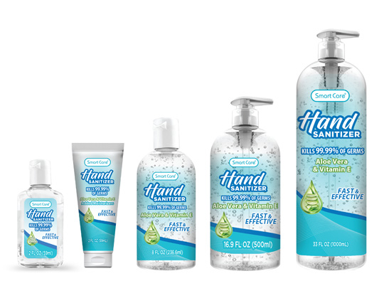 SMART CARE hand sanitizer products for families